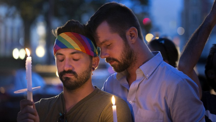 Candlelight vigil for the victims of the Orlando massacre