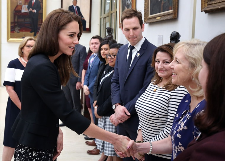 Kate, Duchess of Cambridge, meeting with staff of U.S. Embassy in London