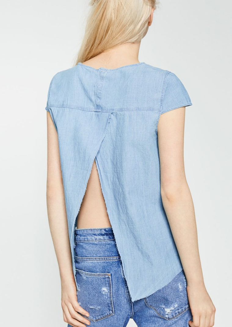 TOP WITH ASYMMETRIC BACK