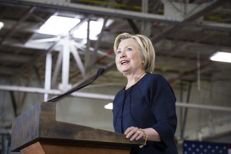 Image: Democratic Presidential Candidate Hillary Clinton Campaigns In Cleveland, Ohio