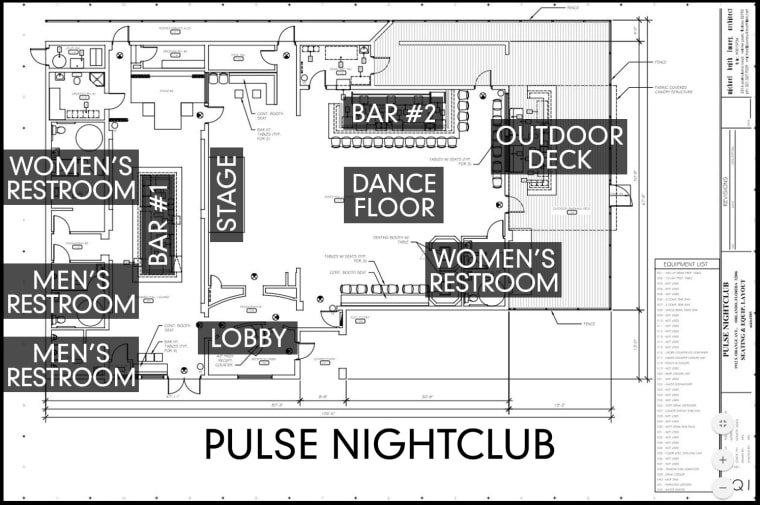 Layout of the Pulse Nightclub