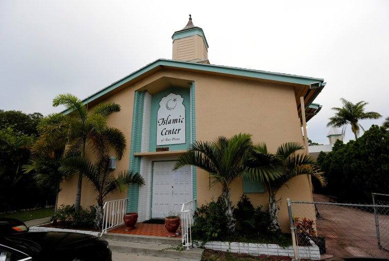 Image: The Islamic Center of Fort Pierce is shown as worshippers took part in a service to offer prayers for victims of the Orlando shooting, at the mosque in Fort Pierce