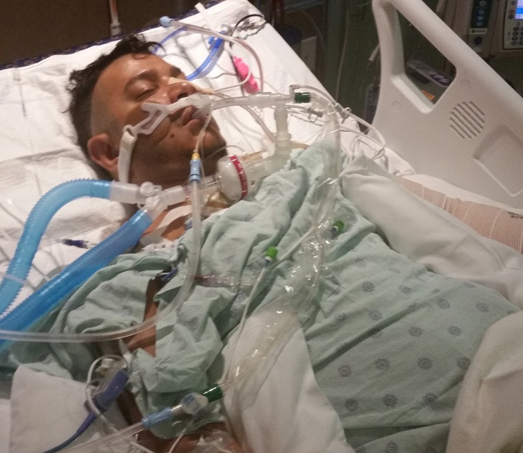 Image: Shooting victim Jeff Rodriquez in hospital