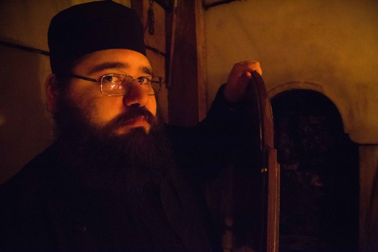 Image: A Greek Orthodox priest