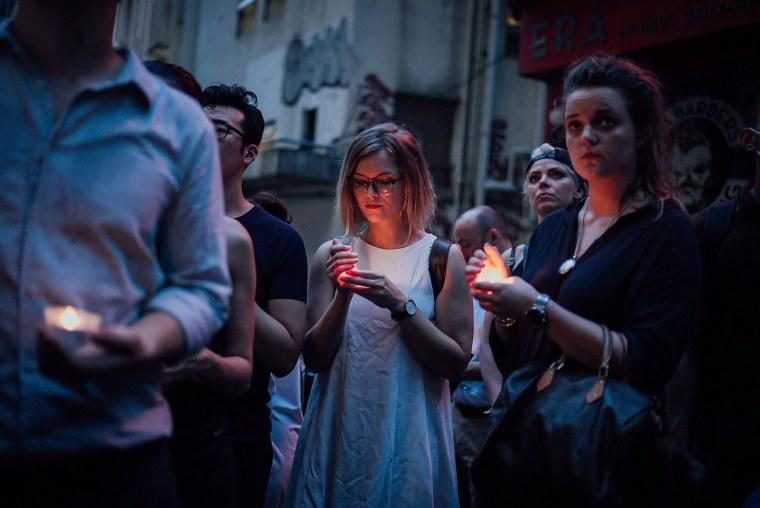 Image: Vigils In Hong Kong After The Orlando Shooting