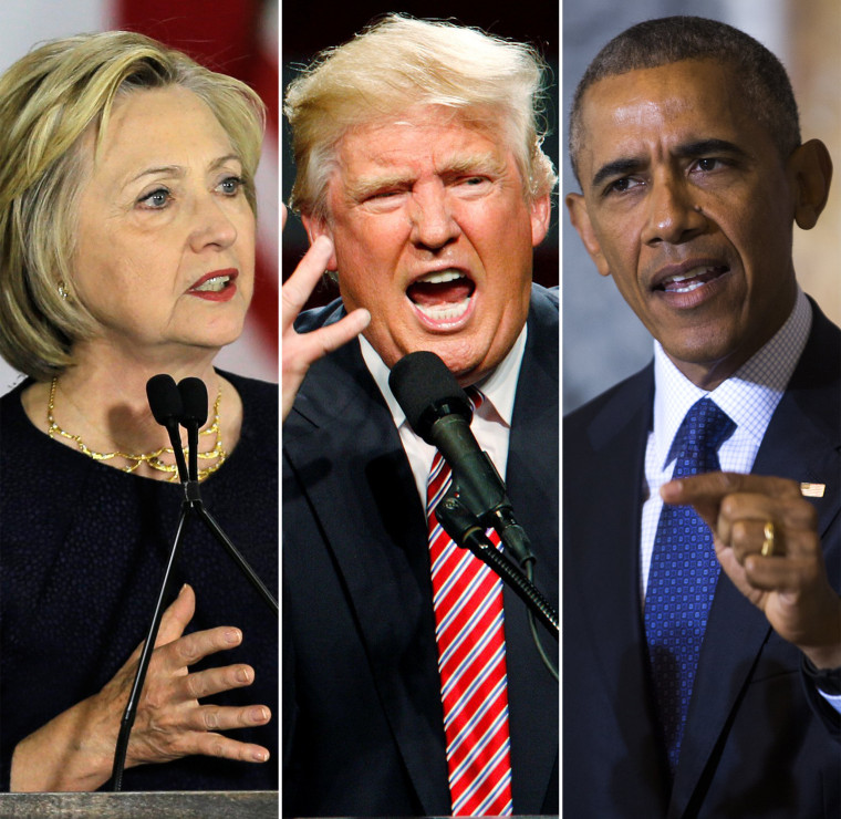 Democratic presidential candidate Hillary Clinton on June 13, Republican presidential candidate Donald Trump on June 14 and President Barack Obama on June 14