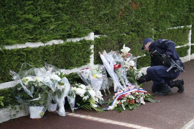 Image: Magnanville memorial