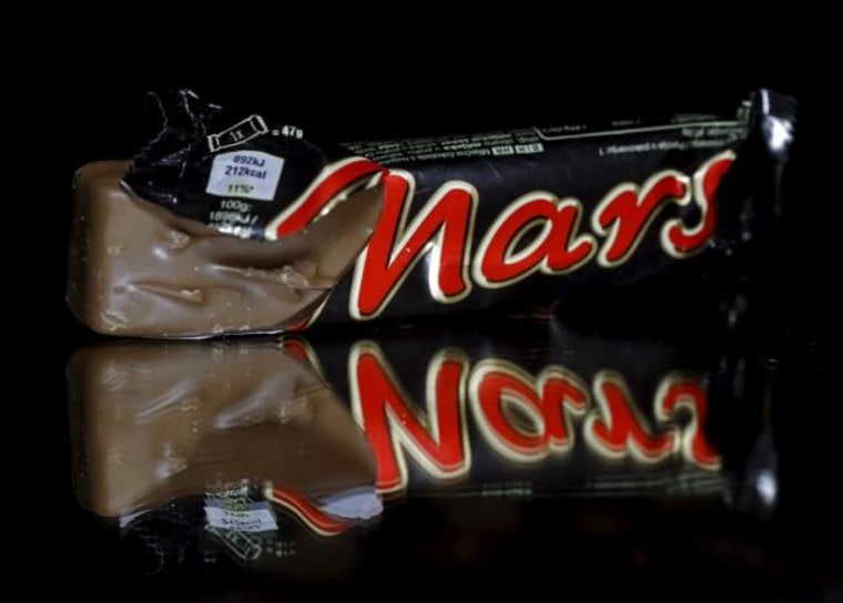 Mars bars are seen in this picture illustration