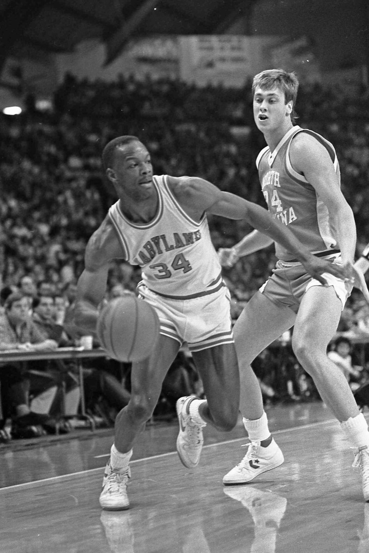 Len Bias plays with the University of Maryland Terrapins in the 1980s.
