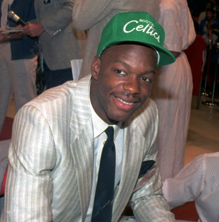 Len Bias Wears A Boston Celtics Hat After Being Selected As The No 2 Pick In NBA Draft On June 17 1986AP File