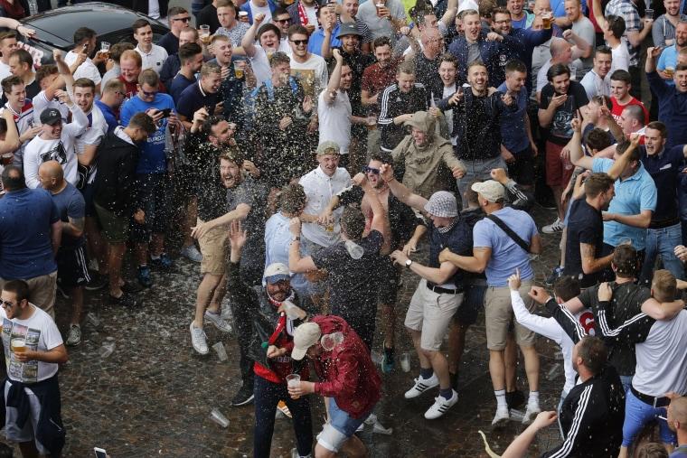 Image: England fans in Lille, France, on June 15, 2016