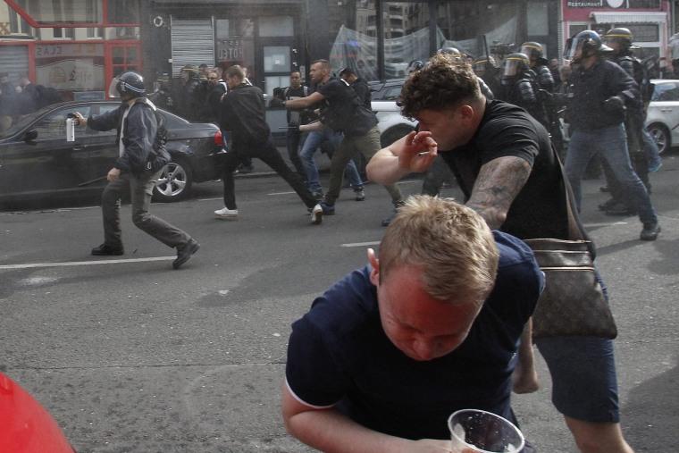 Image: Soccer fans in Lille, France, on June 15, 2016