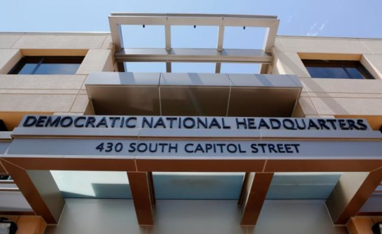 The headquarters of the Democratic National Committee is seen in Washington