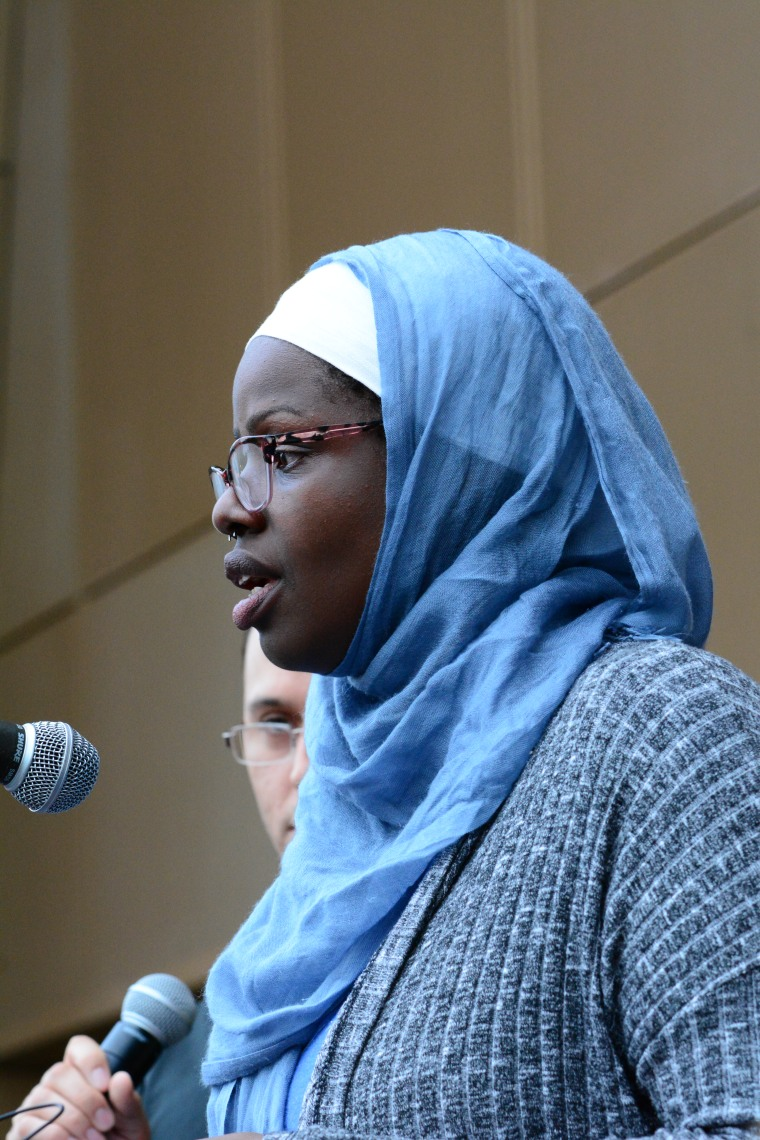 Amina Abdul Jalil, she spoke during the #WeAreOrlando Rally/vigil here in Atlanta on yesterday at the National Center for Civil and Human Rights. She spoke as a LGBTQ Muslim.