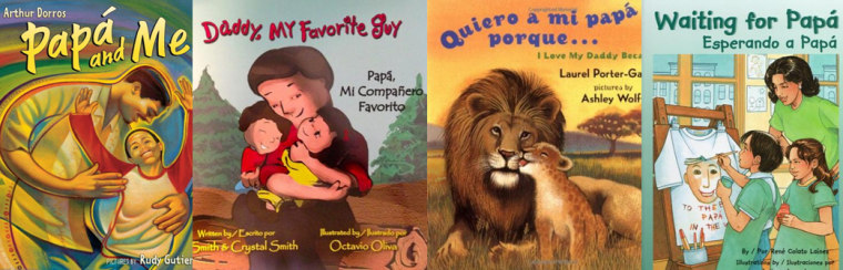 Selection of books perfect for children on Father's Day.