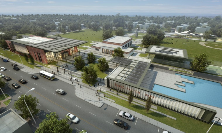 A photographic rendering of the expected Emancipation Park renovation.