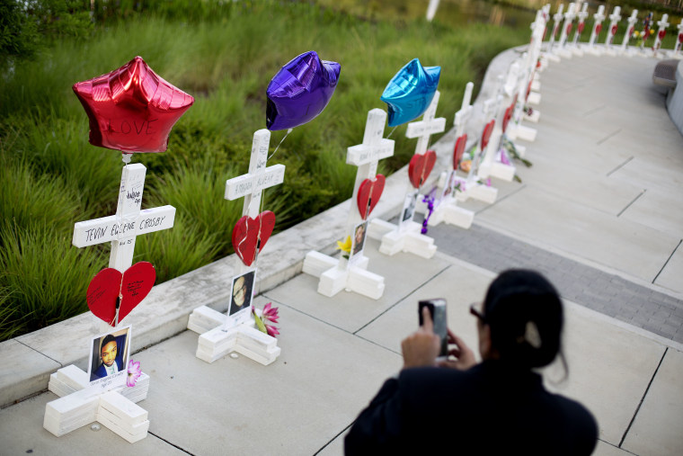 One cross for each victim of the Orlando Shooting.