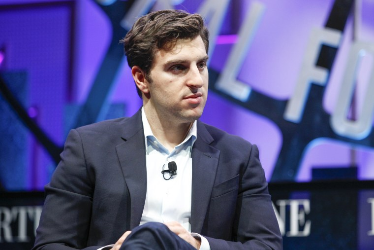 Brian Chesky, the CEO of Airbnb who has received complaints about racism on the app.