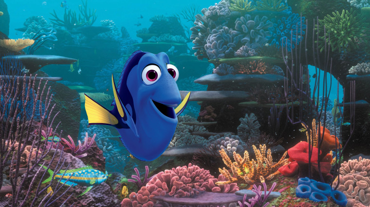 "Dory, voiced by Ellen DeGeneres, in a scene from Pixar's ""Finding Dory."""