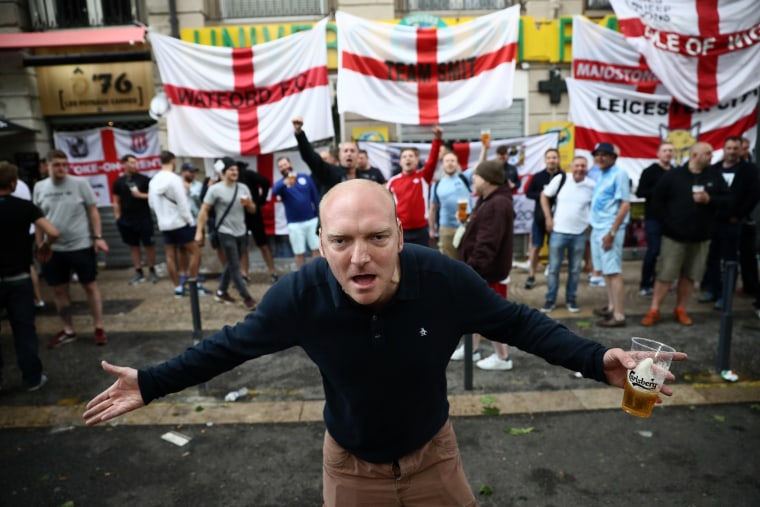 Image: Fans Gather In Saint-Etienne Ahead Of England v Slovakia Match