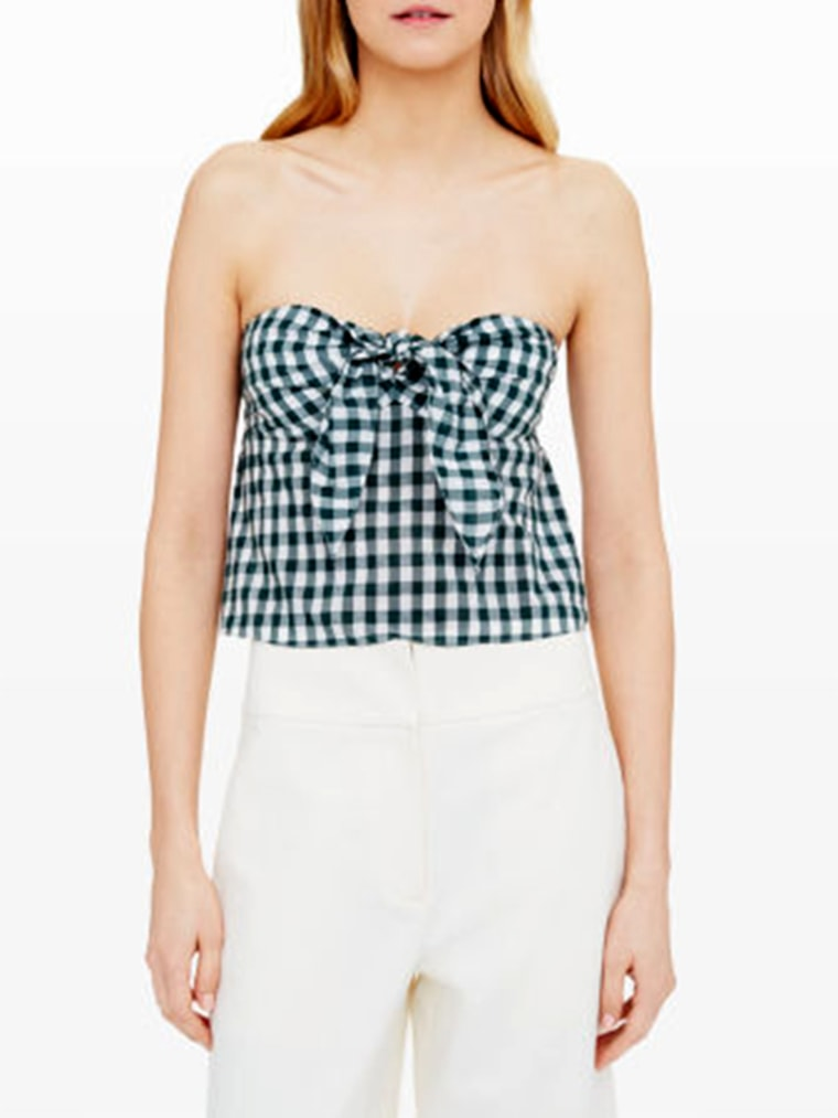 gingham clothes for women, Indya Tube Top