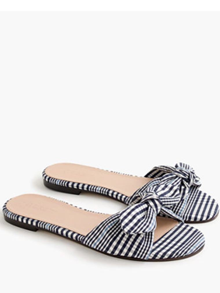 gingham clothes, Gingham knotted fabric slides