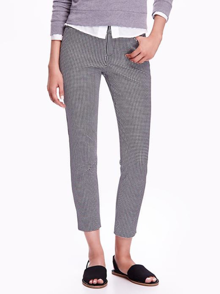 gingham clothes, Pixie Mid-Rise Ankle Pants for Women