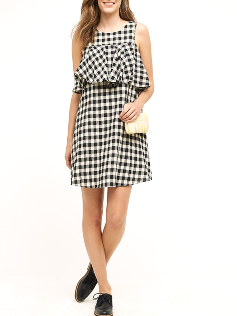 gingham clothes, Ruffled Gingham Shift