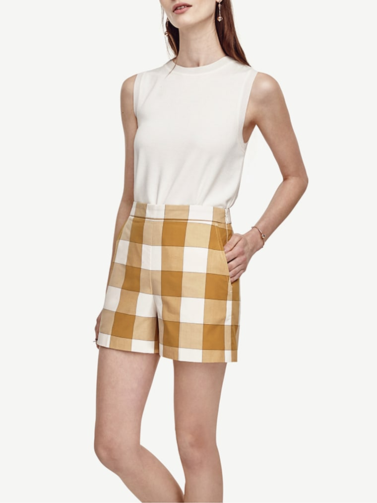 gingham clothes for women, Gingham High Waisted Shorts