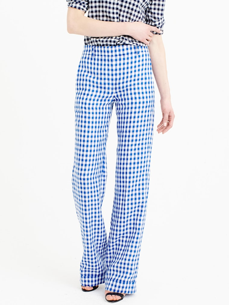 gingham clothes for women, Linen Pant In Gingham