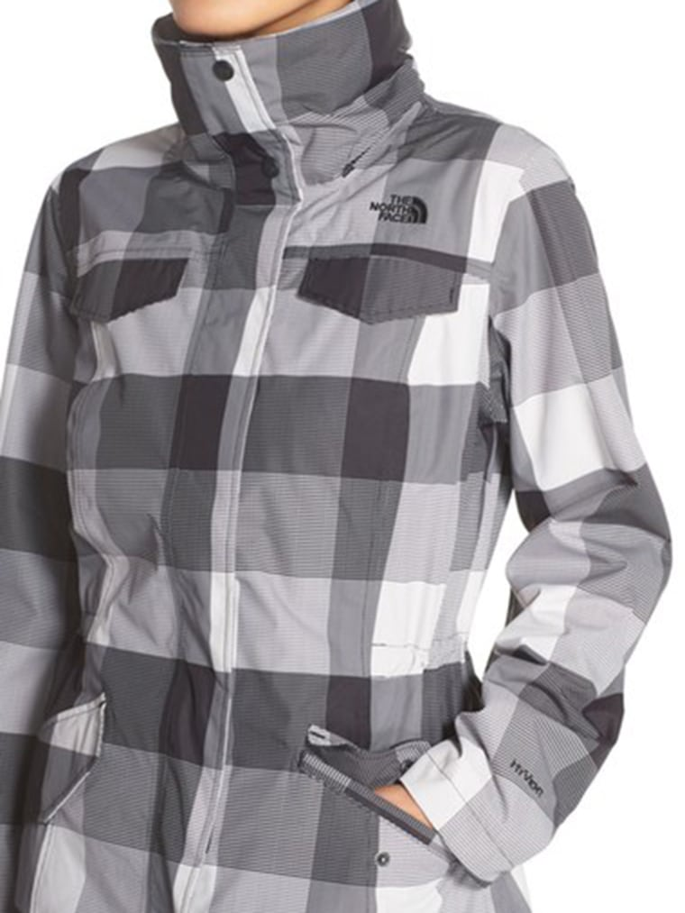 gingham clothes, North Face Gingham Waterproof Jacket