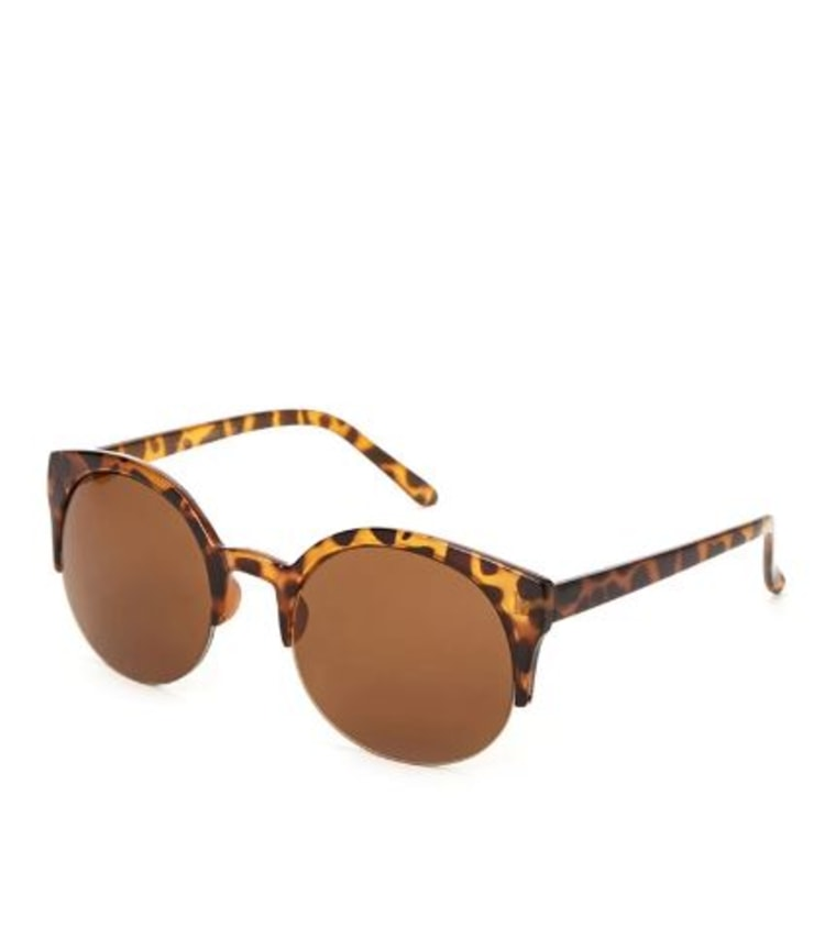 Forever 21 Pointed Half-Frame sunglasses for a heart-shaped face