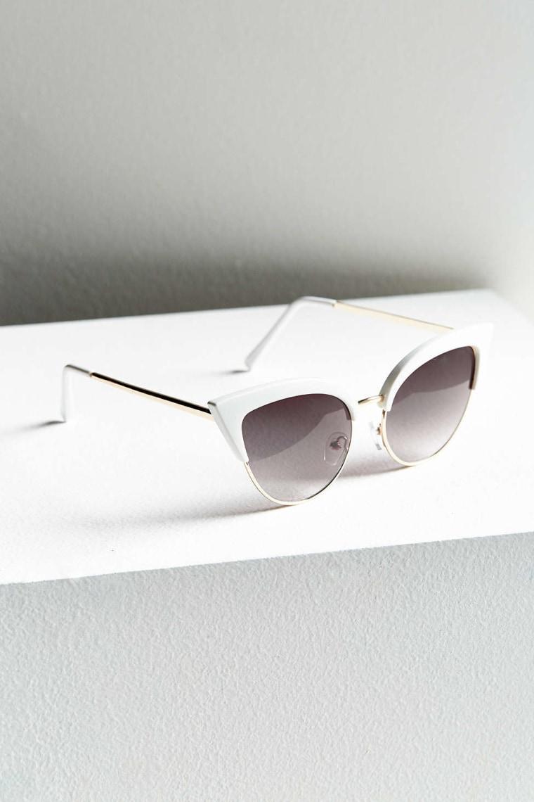 Half-frame Exaggerated Cat-Eye Sunglasses