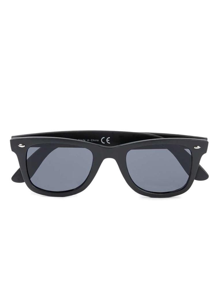 Topman Matte Black Sunglasses