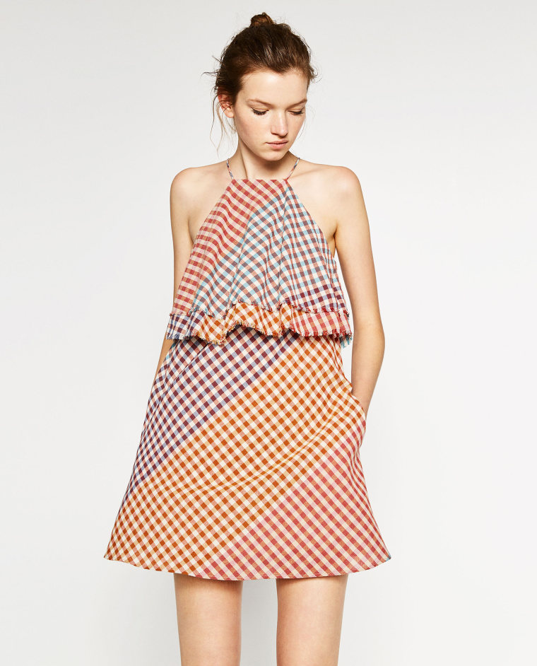 gingham dress clothing Frayed Checked Dress
