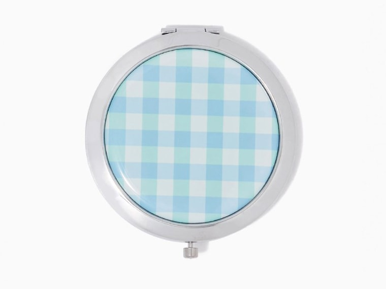 Gingham Print Compact Mirror accessories