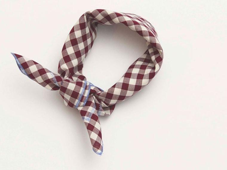 Gingham Handkerchief, gingham accessories