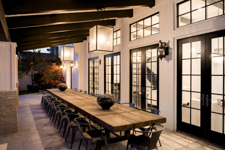 Kylie Jenner's outdoor dining area