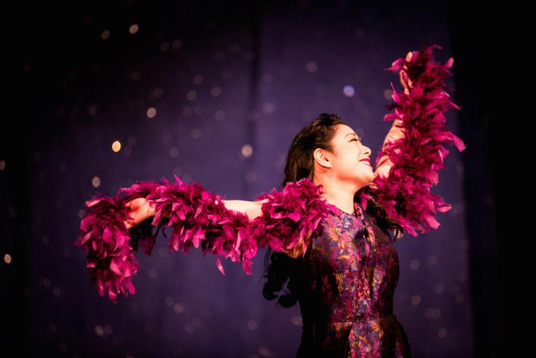 """Tiny Asian Tina Fey"" Miki Yamashita performs with the Los Angeles Opera."