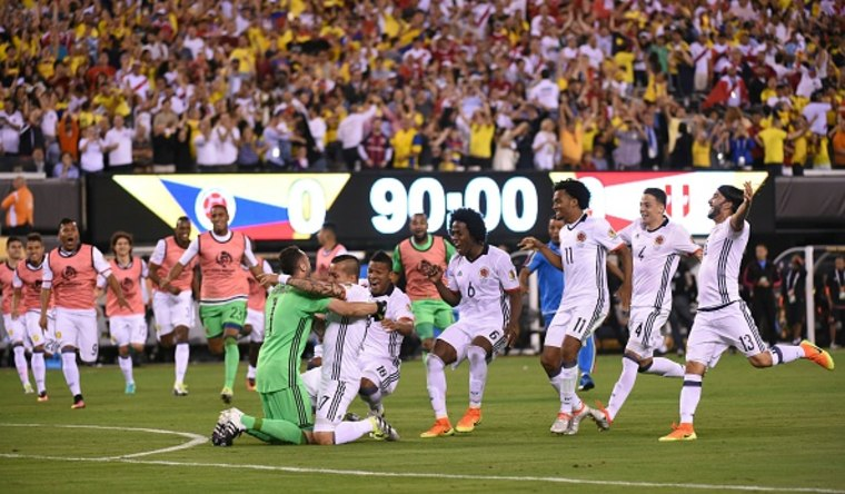 Colombia Celebrates Penalty Shoot Out Win Against Peru - COPAM2016-PER-COL