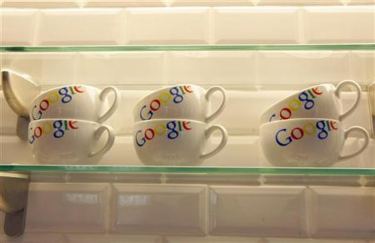 Google bowls are seen in the new headquarters of Google France before its official inauguration in Paris