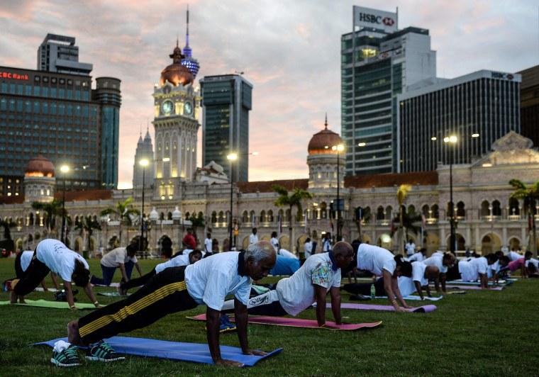 Image: MALAYSIA-HEALTH-YOGA