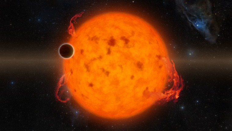 The planet K2-33b, discovered during the Kepler space telescope's K2 mission, is the youngest fully formed exoplanet ever found. The Neptune-size planet is 5 million to 10 million years old. (For comparison, Earth is 4.5 billion years old.)