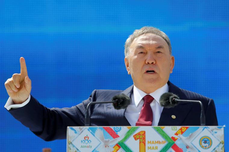 Image: Kazakhstan President Nursultan Nazarbayev on May 1