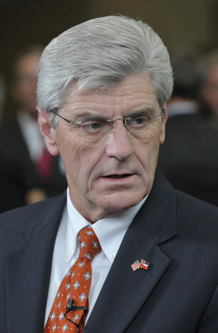 Phil Bryant, governor of Mississippi, attends an event in Orlando, Florida, U.S., on Thursday, Aug. 22, 2013.