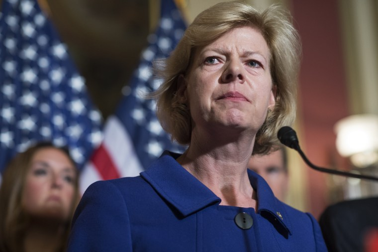 Sen. Tammy Baldwin, D-Wis., became first openly gay person elected to the Senate in 2012.
