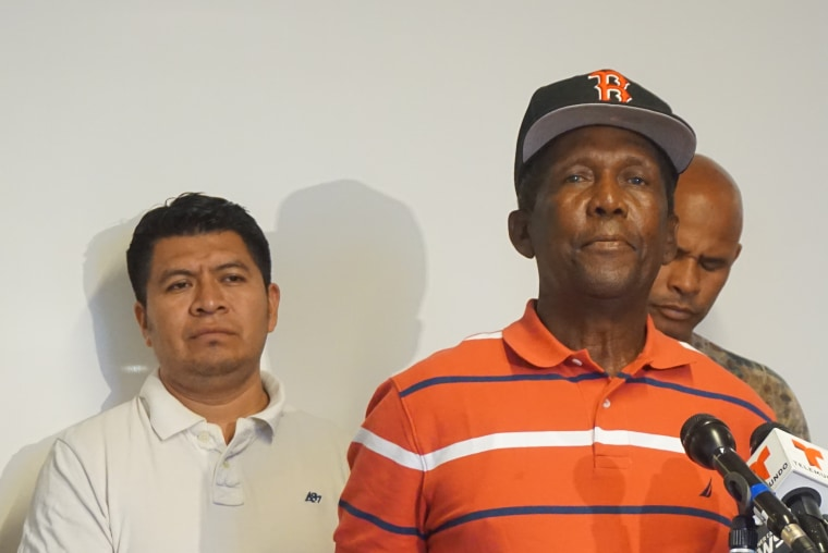 Ramon Alvarez, 70, speaks after receiving the rest of his settlement.