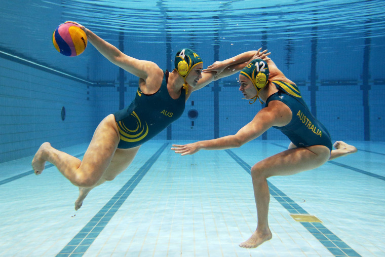 Image: ***BESTPIX*** Australian Olympic Water Polo Team Portrait Session