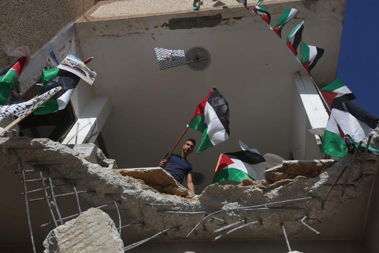 Image: TOPSHOT-PALESTINIAN-ISRAEL-CONFLICT-DEMOLITION