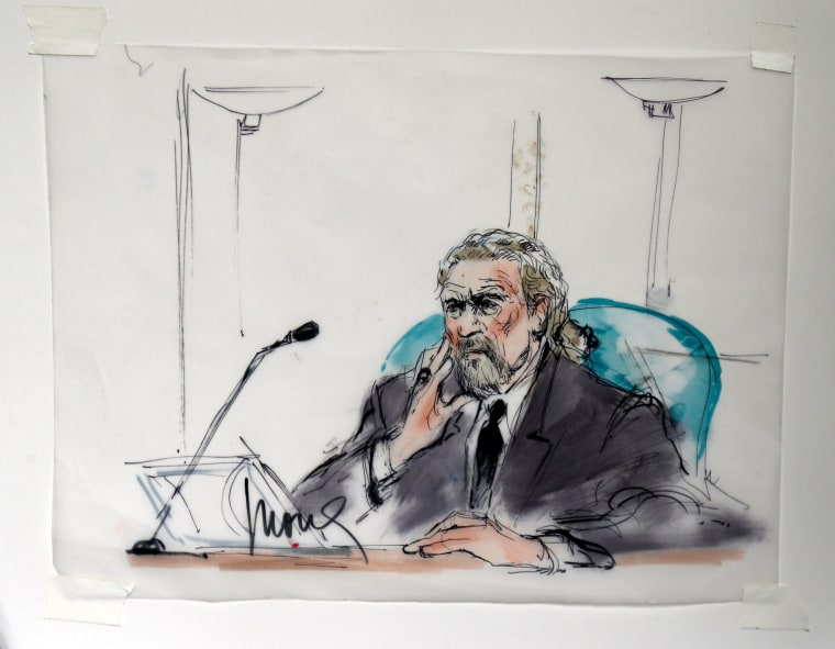 Image: Robert Plant in a courtroom sketch